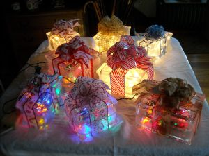Clete's Creations: Christmas lit ice blocks $29 and up