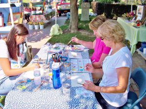 Outdoor watercolor class with Diane